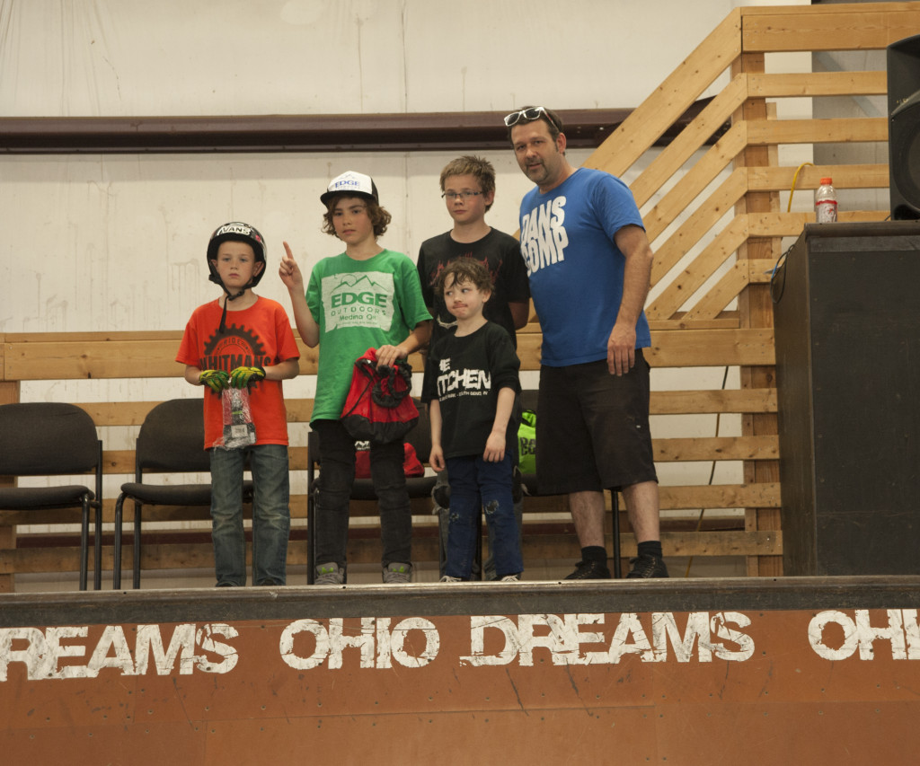 Beginner Class (L-R) Lucas Kerns 3rd, David Osterhouse 1st, Aiden Amburgy 2nd, DJ Martin 4th Place